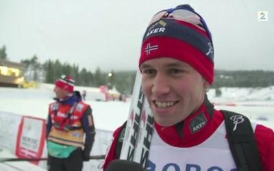 Seier på sprinten på Lillehammer, totalt nr. 4 i touren.